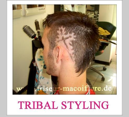 Blickfang mit einem besonderen Tribal Styling von Friseur Ma Coiffure