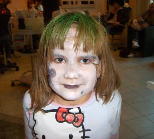 Kinderschminken für Halloween