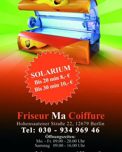 Solarium Friseur Ma Coiffure
