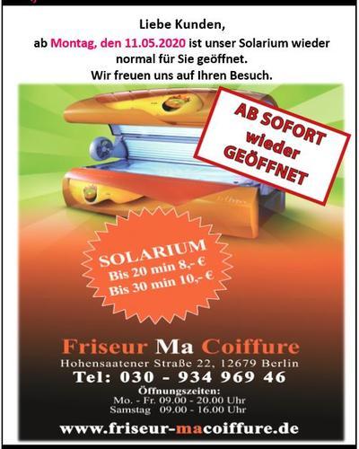 Solarium Friseur Ma Coiffure GmbH